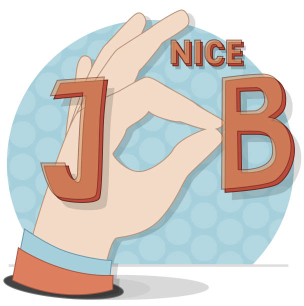 Retro Nizza Job Label – Vektorgrafik