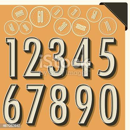 867870340istockphoto Retro number design. 467062642