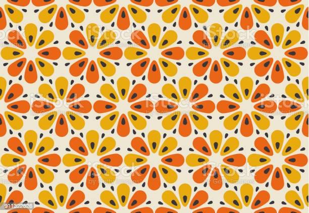 Retro orange and yellow color 60s flower motif geometric floral vector id911322526?b=1&k=6&m=911322526&s=612x612&h=9hzdythl3c wb264zshzdqjvdcecfssov9g5p8itkwu=