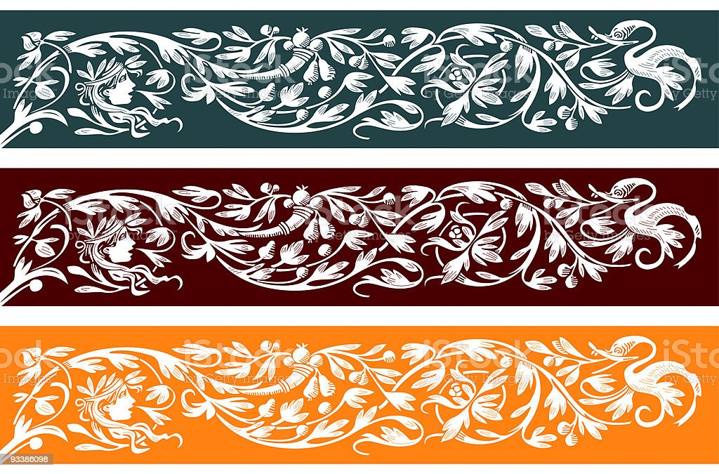 retro ornament royalty-free stock vector art