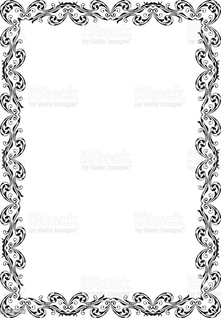 Retro Ornate Luxury Art Baroque Frame Stock Vector Art & More Images ...