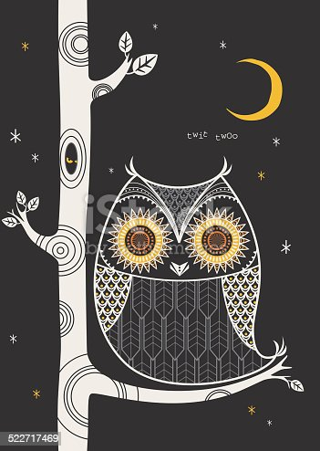 A cute retro style owl. See below for more animal and nature images