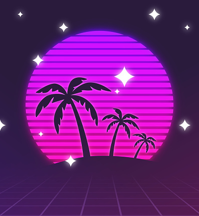 Retro Palm Trees Background