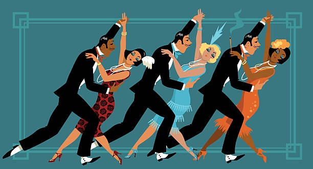 retro party - 1920s style stock illustrations, clip art, cartoons, & icons