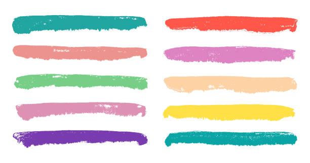 retro-pastellfarbenen farbstreifen faible gesetzt. - pastellhosen stock-grafiken, -clipart, -cartoons und -symbole