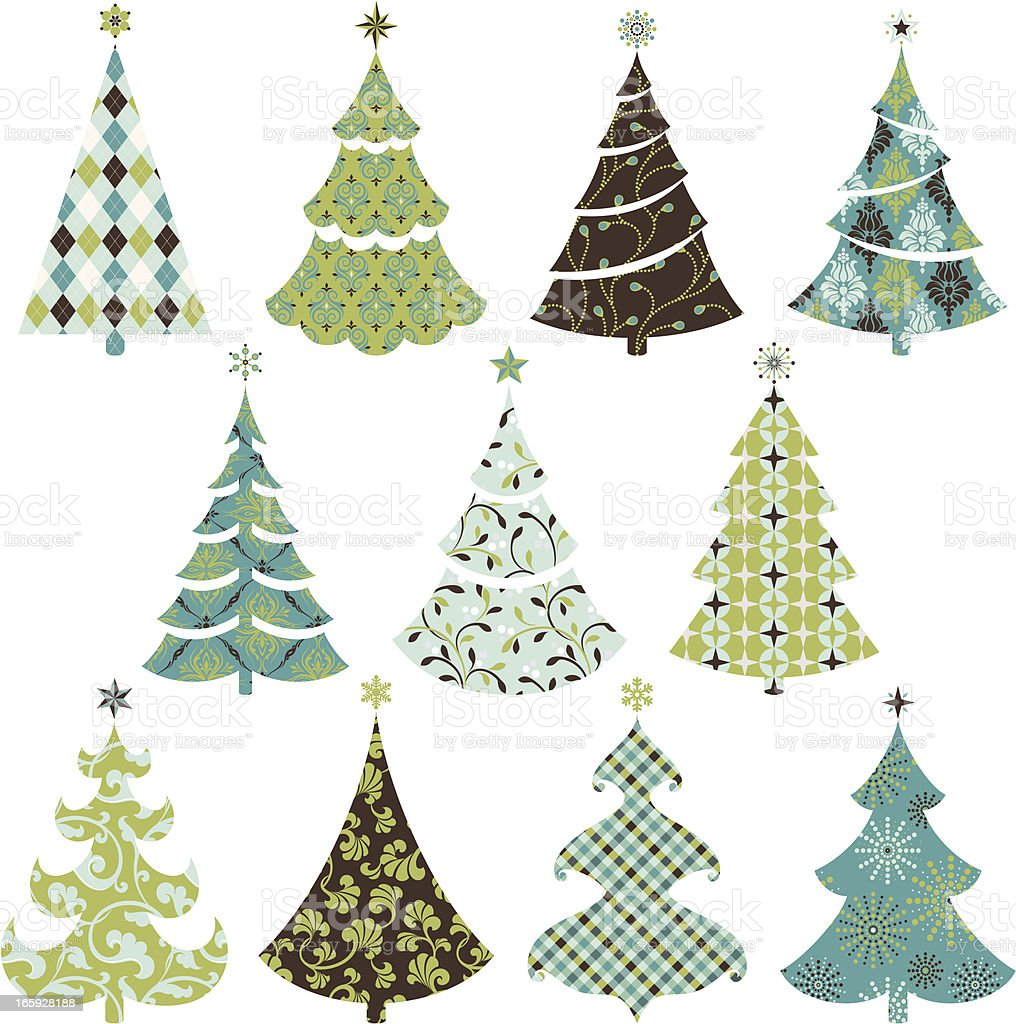 Retro pattern Christmas tree royalty-free retro pattern christmas tree stock vector art & more images of abstract
