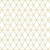 Retro pattern gold squares