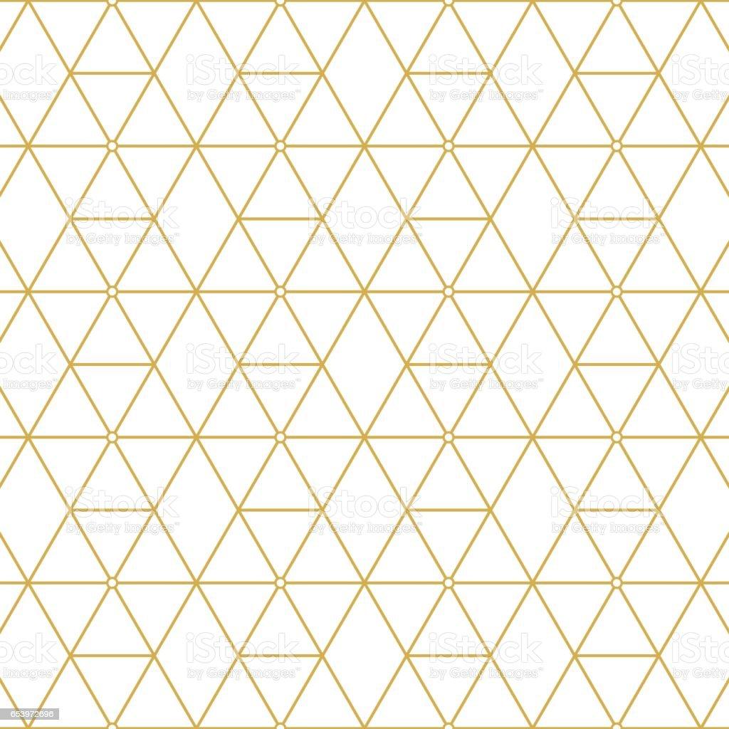 Quadrados de retro padrão ouro - ilustração de arte em vetor