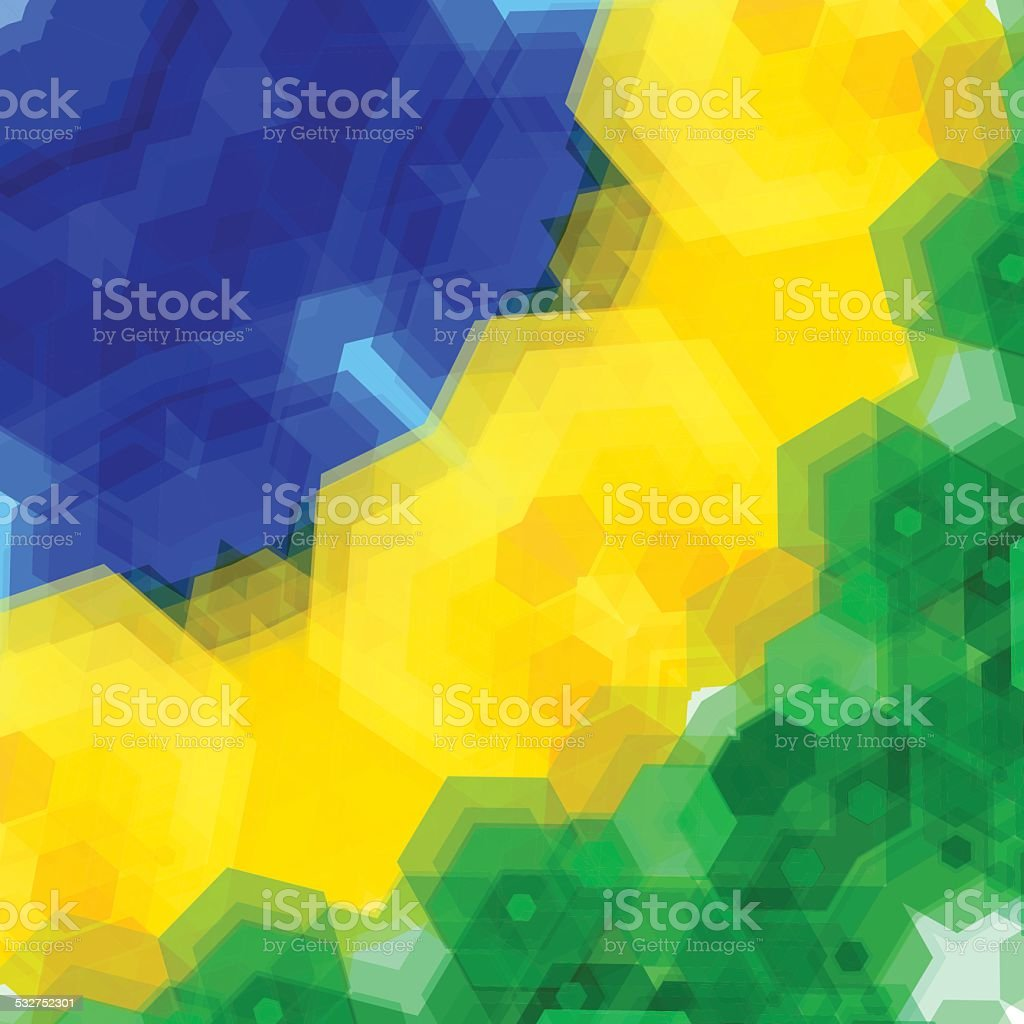 Retro pattern made of hexagonal shapes. Mosaic background. Vecto vector art illustration