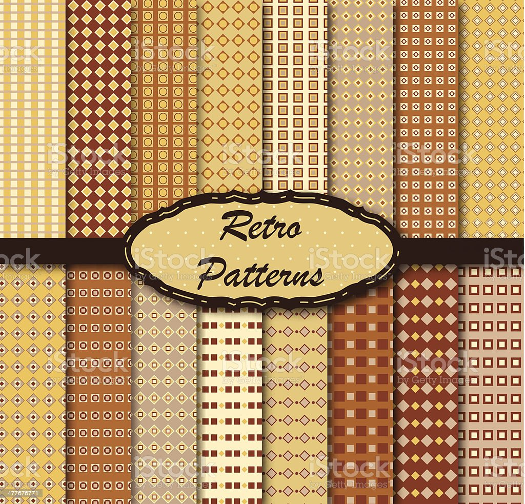 Retro patterns royalty-free stock vector art