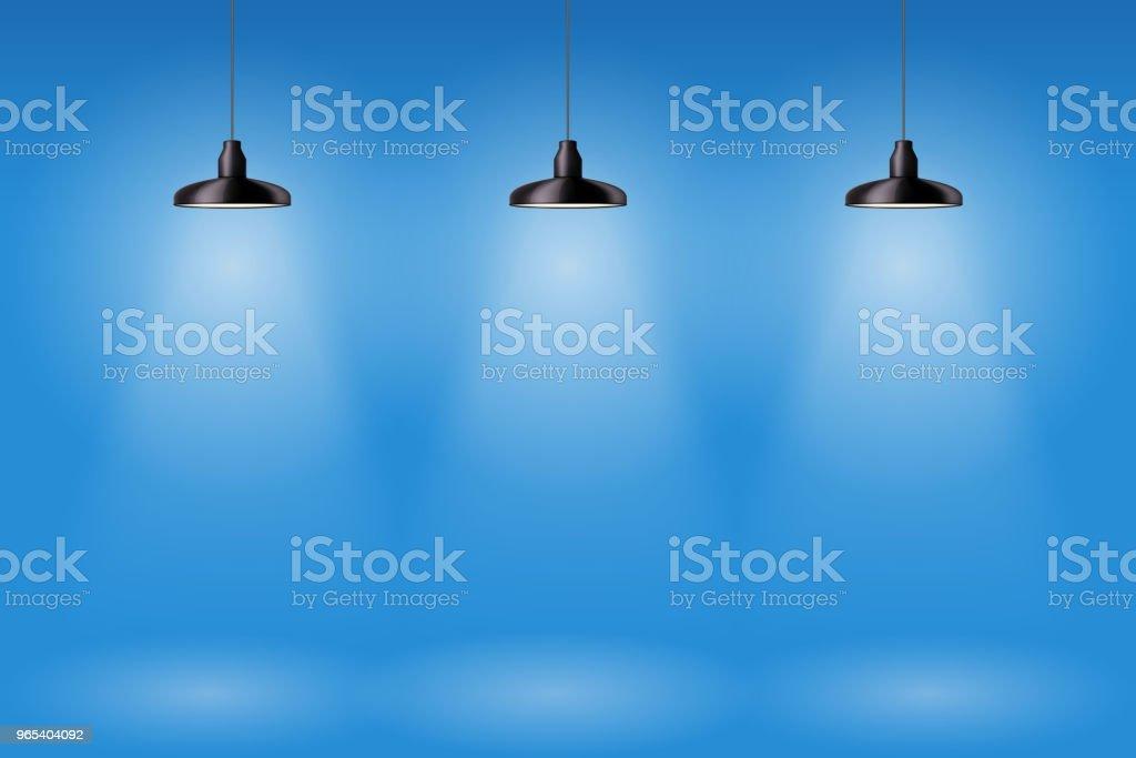 Pendentif Retro cône plafonnier - clipart vectoriel de Ampoule électrique libre de droits