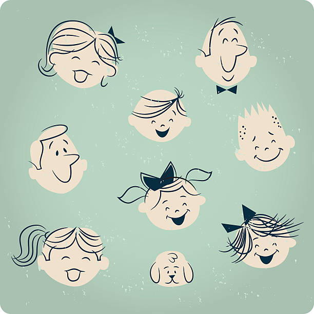 retro people - 1950s style stock illustrations, clip art, cartoons, & icons