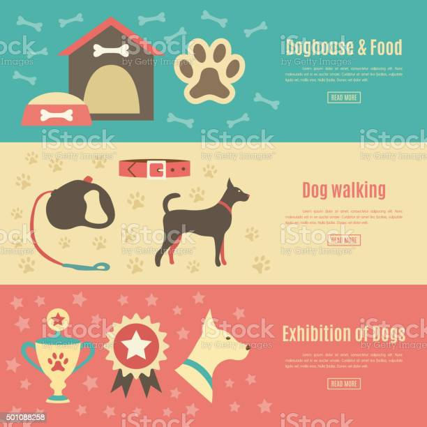 Retro pet flat horizontal banner set vector illustration for an vector id501088258?b=1&k=6&m=501088258&s=612x612&h=q5czcxoevpj38a9woe 0zoejgey6wuf3fy6pjzdrwnq=
