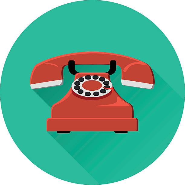 retro phone icon vector art illustration