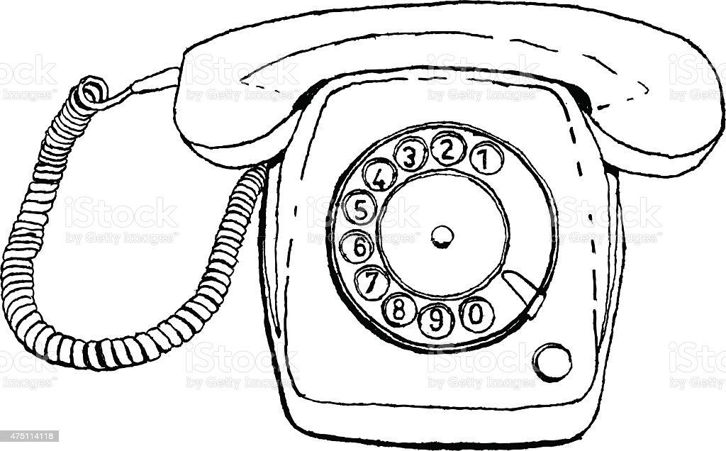 retro phone stock vector art more images of 1970 1979 475114118 Retro Phone Clip Art retro phone illustration