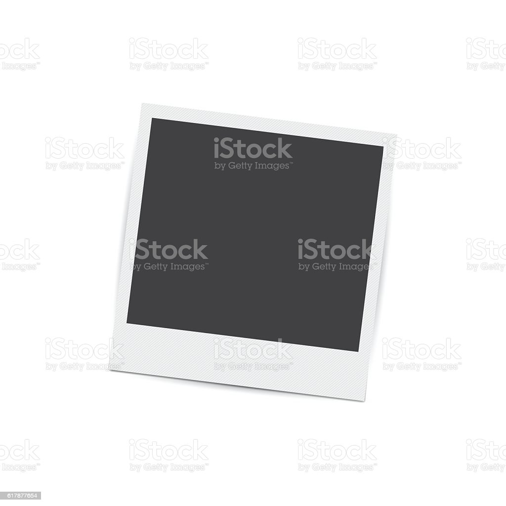 Retro photo frame isolated on white background vector art illustration