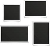 Retro photo frame set.