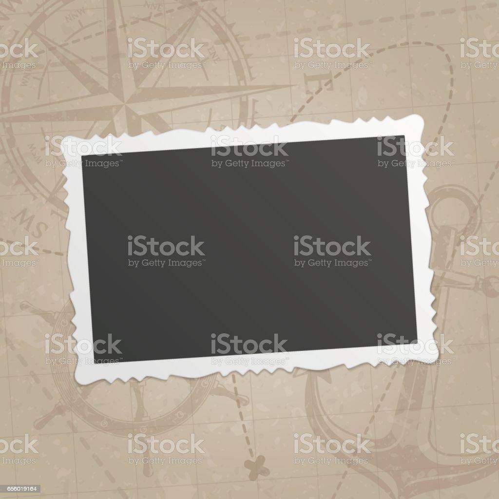 Cadre photo rétro. - Illustration vectorielle