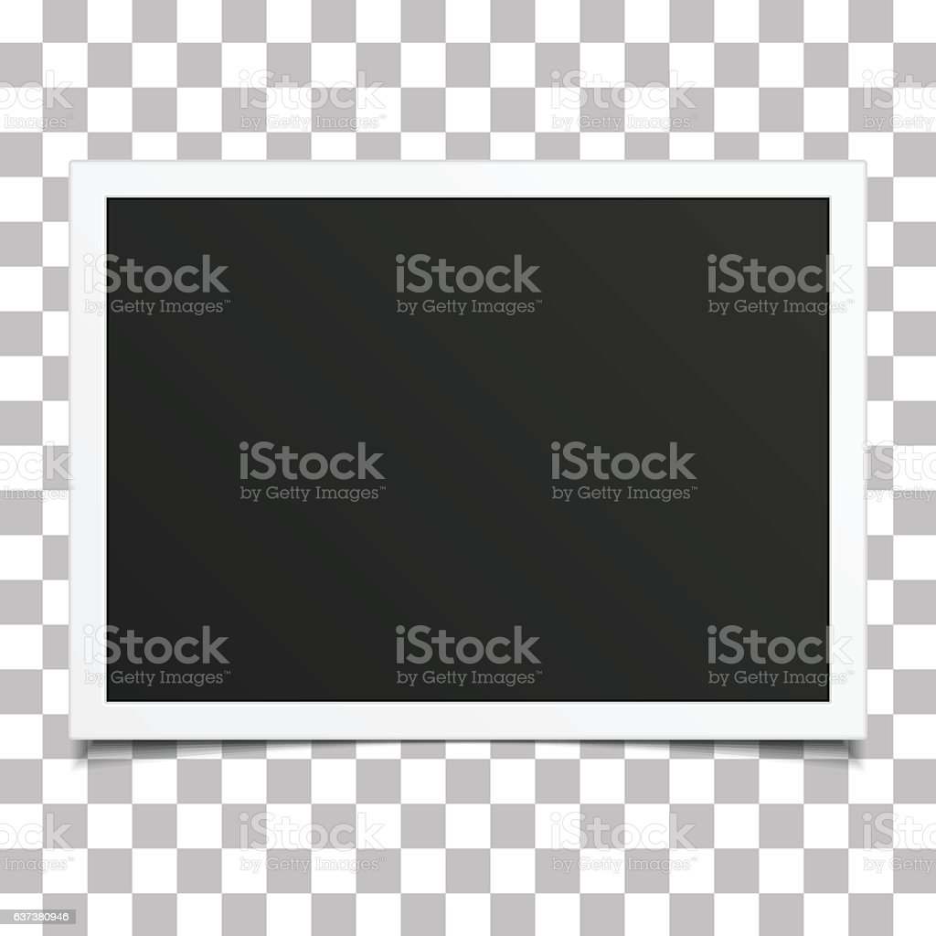 Retro photo frame with shadow. - ilustración de arte vectorial