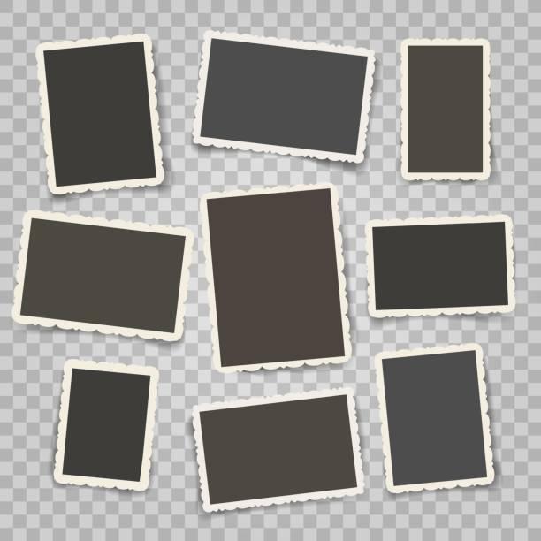 illustrazioni stock, clip art, cartoni animati e icone di tendenza di retro photo frames templates - foto