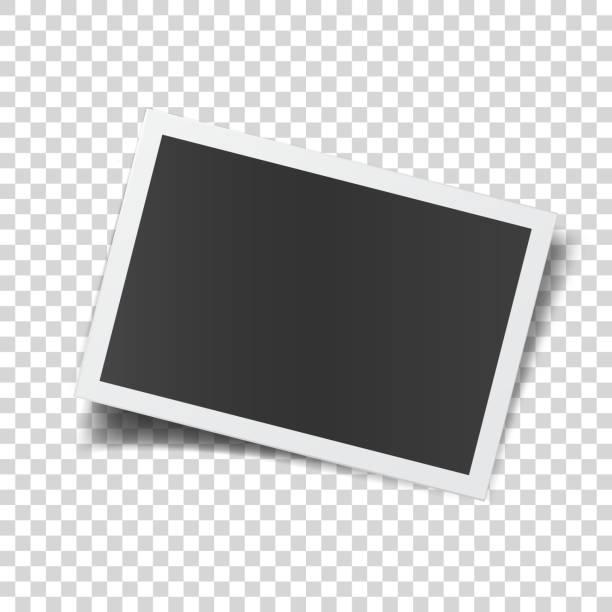 illustrazioni stock, clip art, cartoni animati e icone di tendenza di retro photograph isolated on abstract checkered background. - foto