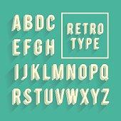istock Retro poster alphabet. Retro font with shadow 519507221