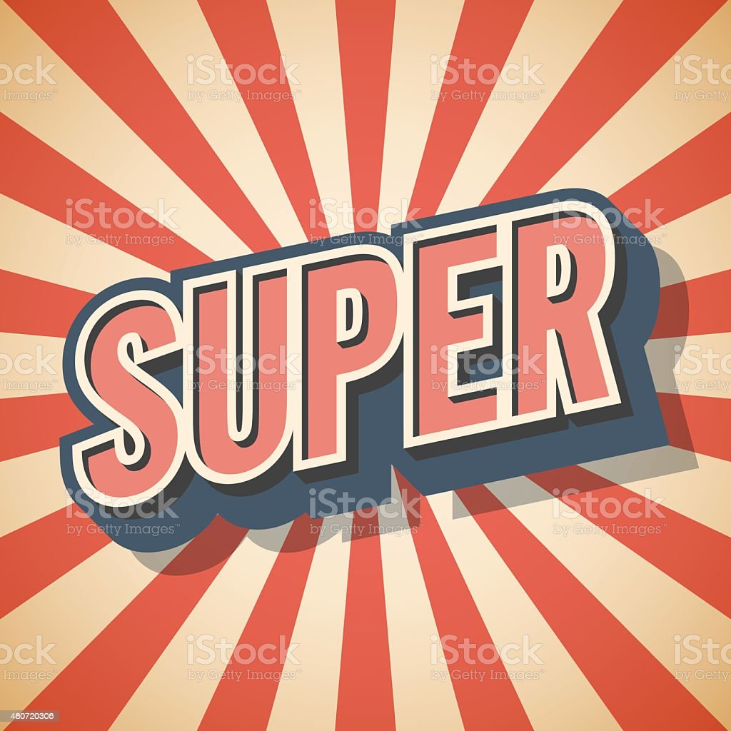 Retro poster. Super Speech. Vector illustration vector art illustration