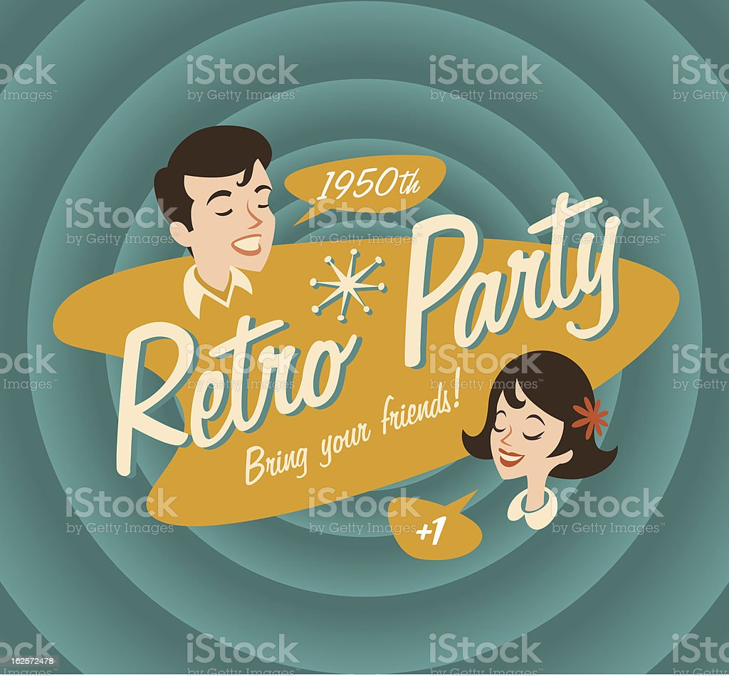 Retro poster vector art illustration
