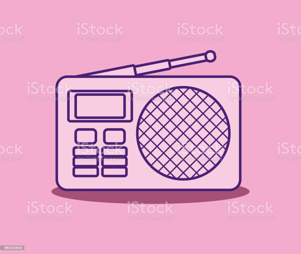 Retro Radio Design Stock Vector Art & More Images of Analog ...