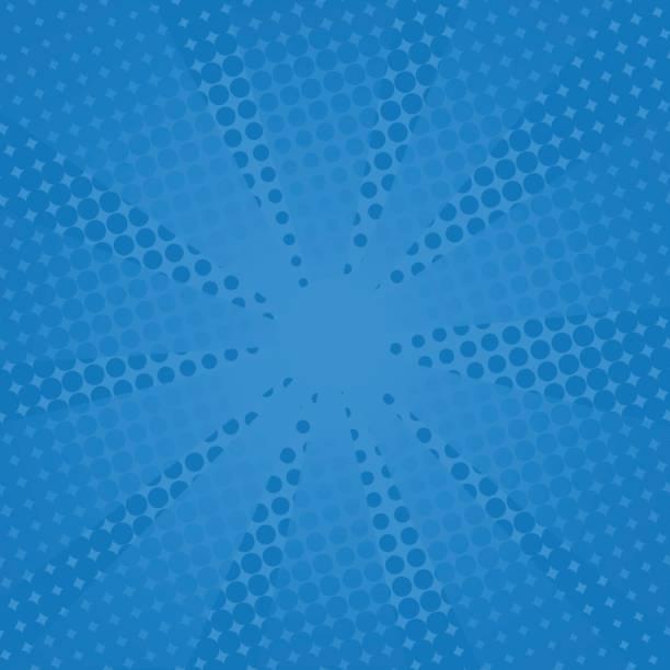 Retro Strahlen Comic-blauen Hintergrund. – Vektorgrafik