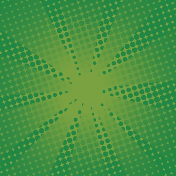 Retro Strahlen Comic-grünen Hintergrund. – Vektorgrafik