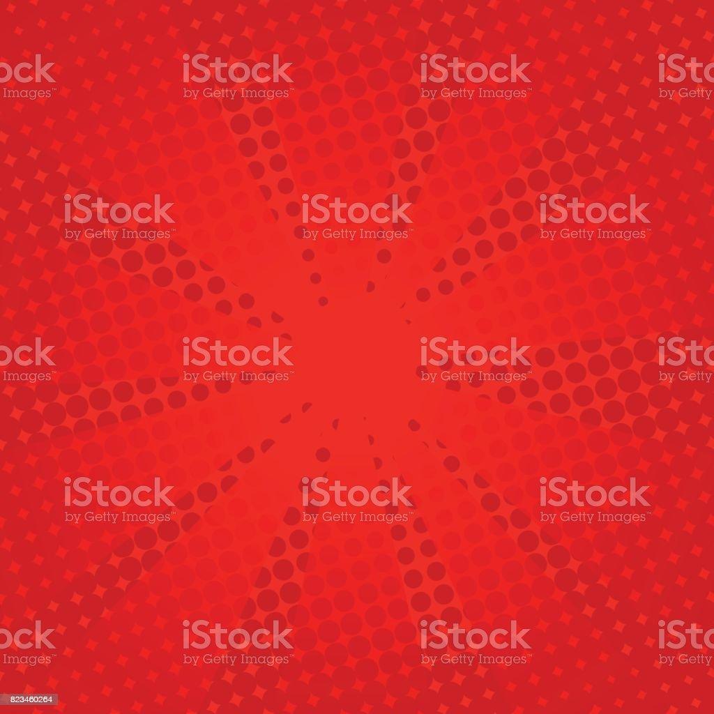Retro Strahlen Comic-rotem Hintergrund. – Vektorgrafik