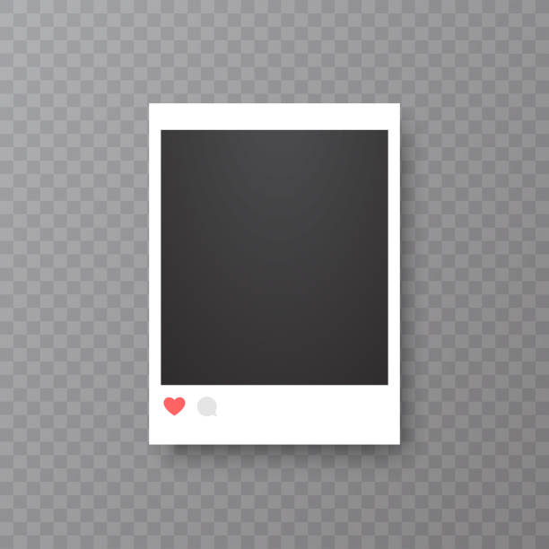 Retro realistic vector photo frame or social media template. Placed on transparent background vector illustration. Retro realistic vector photo frame or social media template. Placed on transparent background vector illustration martin luther king jr photos stock illustrations