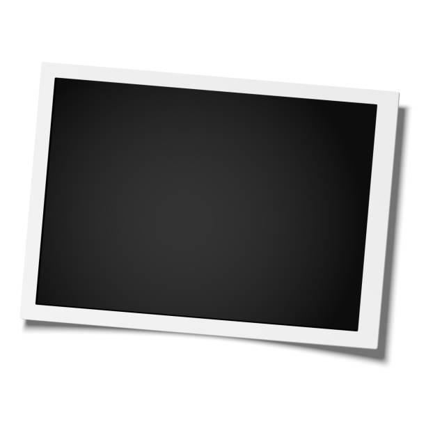 stockillustraties, clipart, cartoons en iconen met retro realistische vector fotolijstjes geplaatst op witte achtergrond. foto sjabloonontwerp. - photo frame