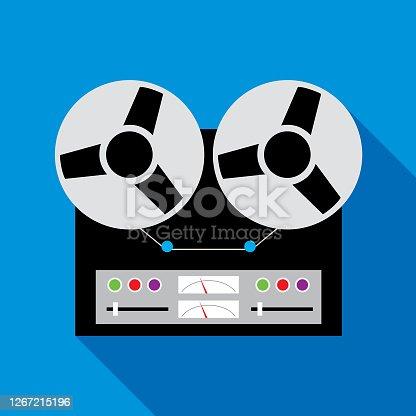 istock Retro reel To Reel Tape Recorder 1267215196