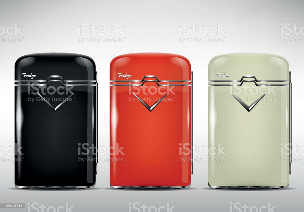 Retrokühlschrank Stock Vektor Art und mehr Bilder von Alt 486023717 ...