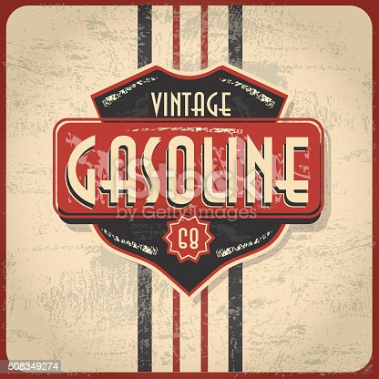 Old fashioned Gas Bar and Gasoline related signs and labels. Vintage style with sample design text and elements. Variety of color and lot's of texture to appear slightly worn with age. Download includes Illustrator 10 eps, high resolution jpg. See my portfolio for other signs, labels and vintage items. Scalable, printable, editable.