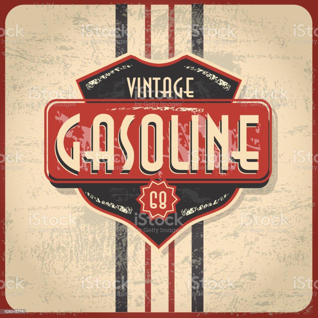 De Gas Retro Vintage Bar o señal - ilustración de arte vectorial
