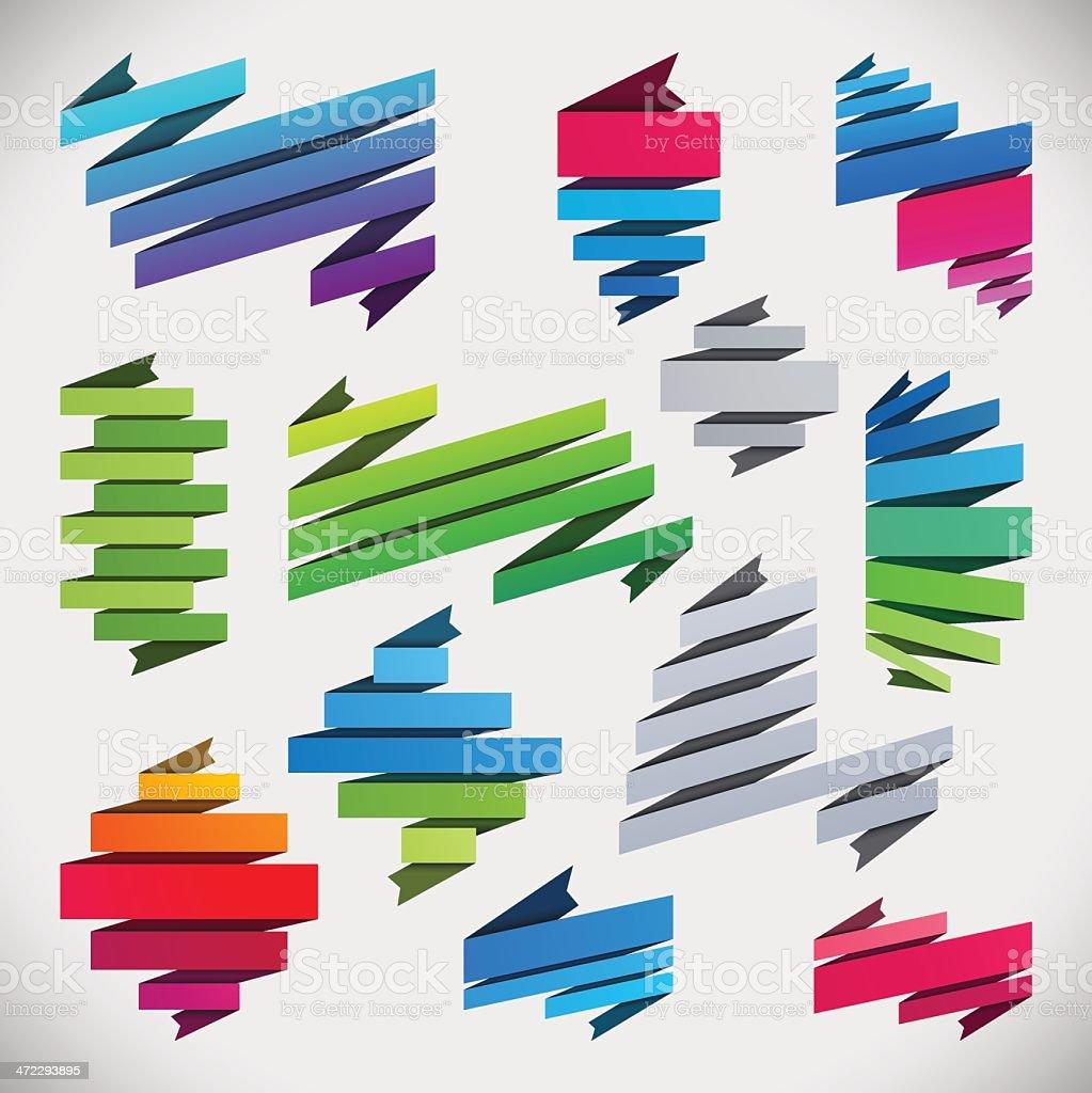 Retro Ribbons vector art illustration