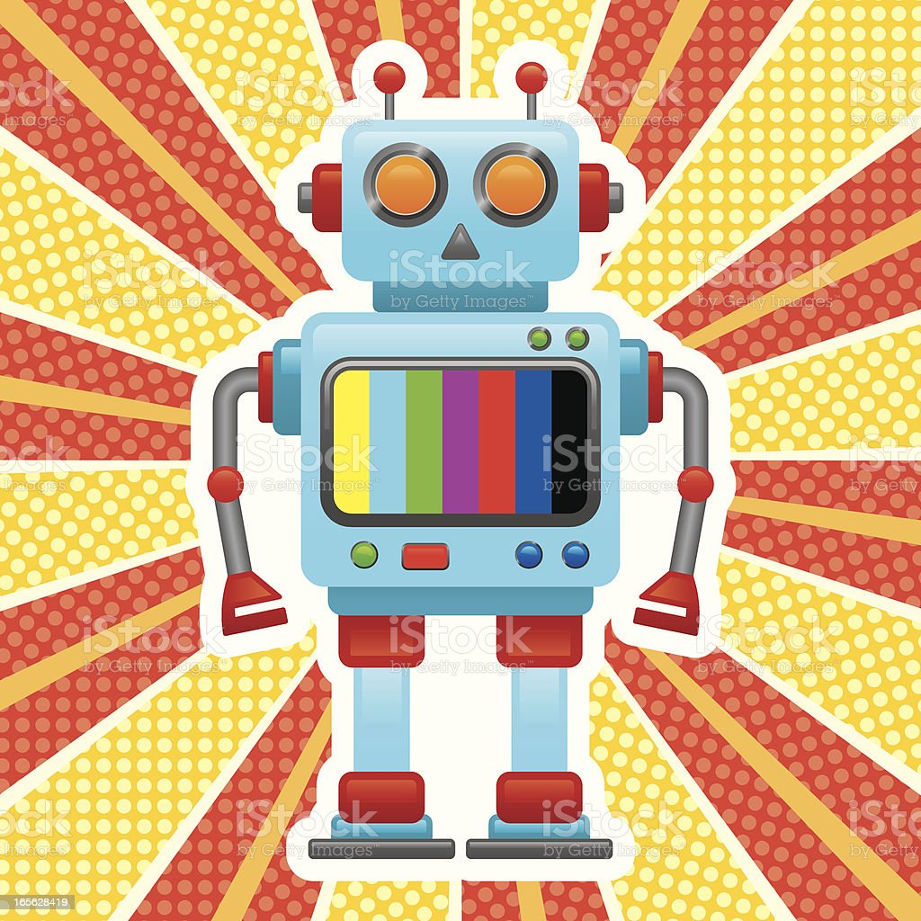 retro robot stock vector art amp more images of cartoon