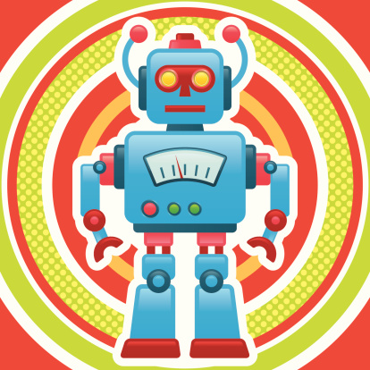 Retro Robot Stock Illustration - Download Image Now