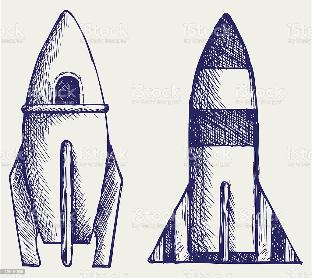 Retro rocket royalty-free stock vector art