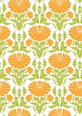 A seamless tiling pattern based on dandelions. go retro!