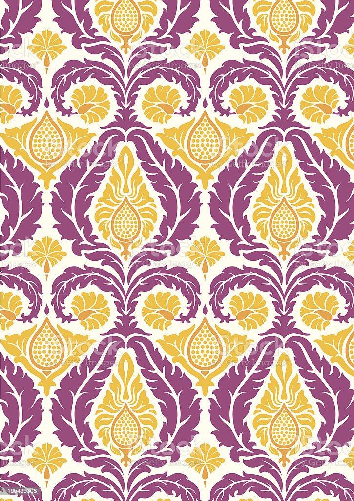 Retro rococo seamless fig pattern royalty-free stock vector art