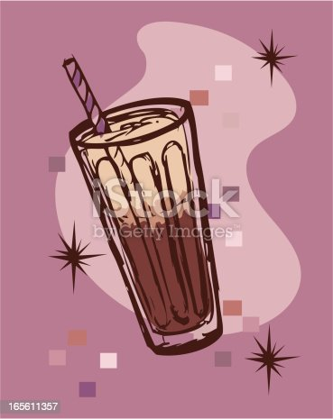 A vector sketch of a retro root beer float.  More retro art in my portfolio.