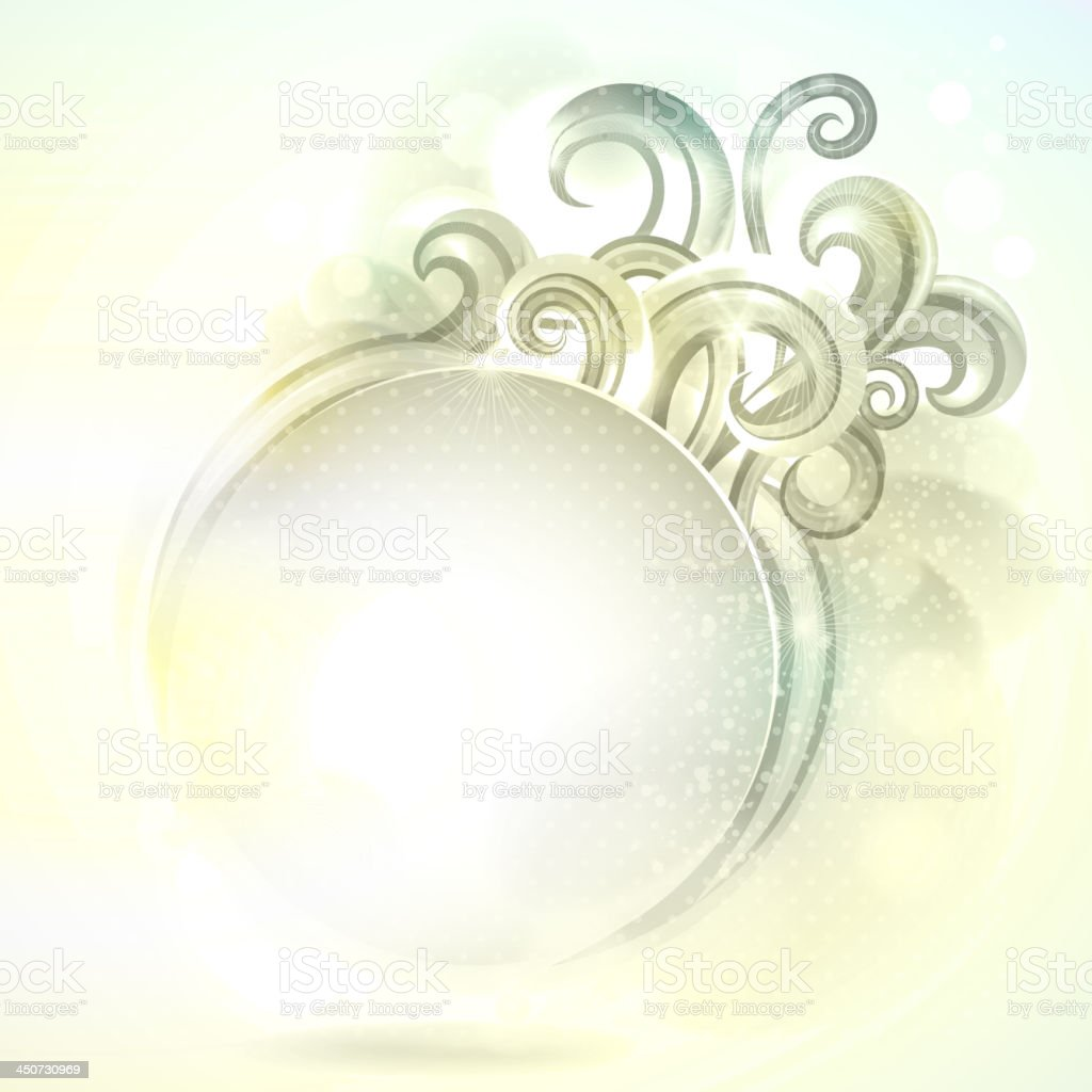 Retro round frame with design elements. royalty-free stock vector art