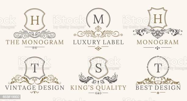 Retro royal vintage shields logotype set vector calligraphyc luxury vector id653819932?b=1&k=6&m=653819932&s=612x612&h=qgkaxrsxavxzbuoxmt0er1 apb pksxctebclxrlxje=
