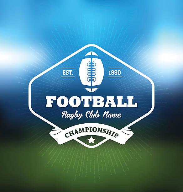 Retro rugby badge vector Retro rugby badge vector, American Football Vintage Rugby Vector, Rugby league badges, American rugby badges,  Vintage simple Super Bowl badges , American football badges, Variety of retro rugby badges, Vintage rugby and american football label, emblem or logo, Flat Super Bowl badges pack. Vector Illustration Eps-10. rugby stock illustrations