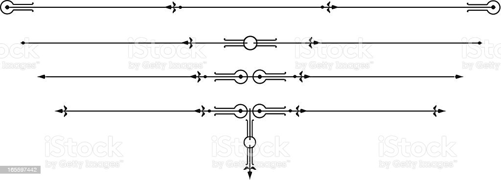 Retro Rule Lines vector art illustration