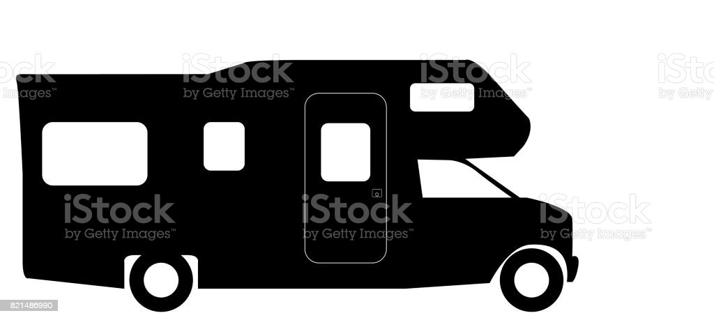 Retro RV Camper Van Silhouette Royalty Free Rv Stock Vector Art
